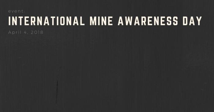 EVENT: International Mine AwarenessDay